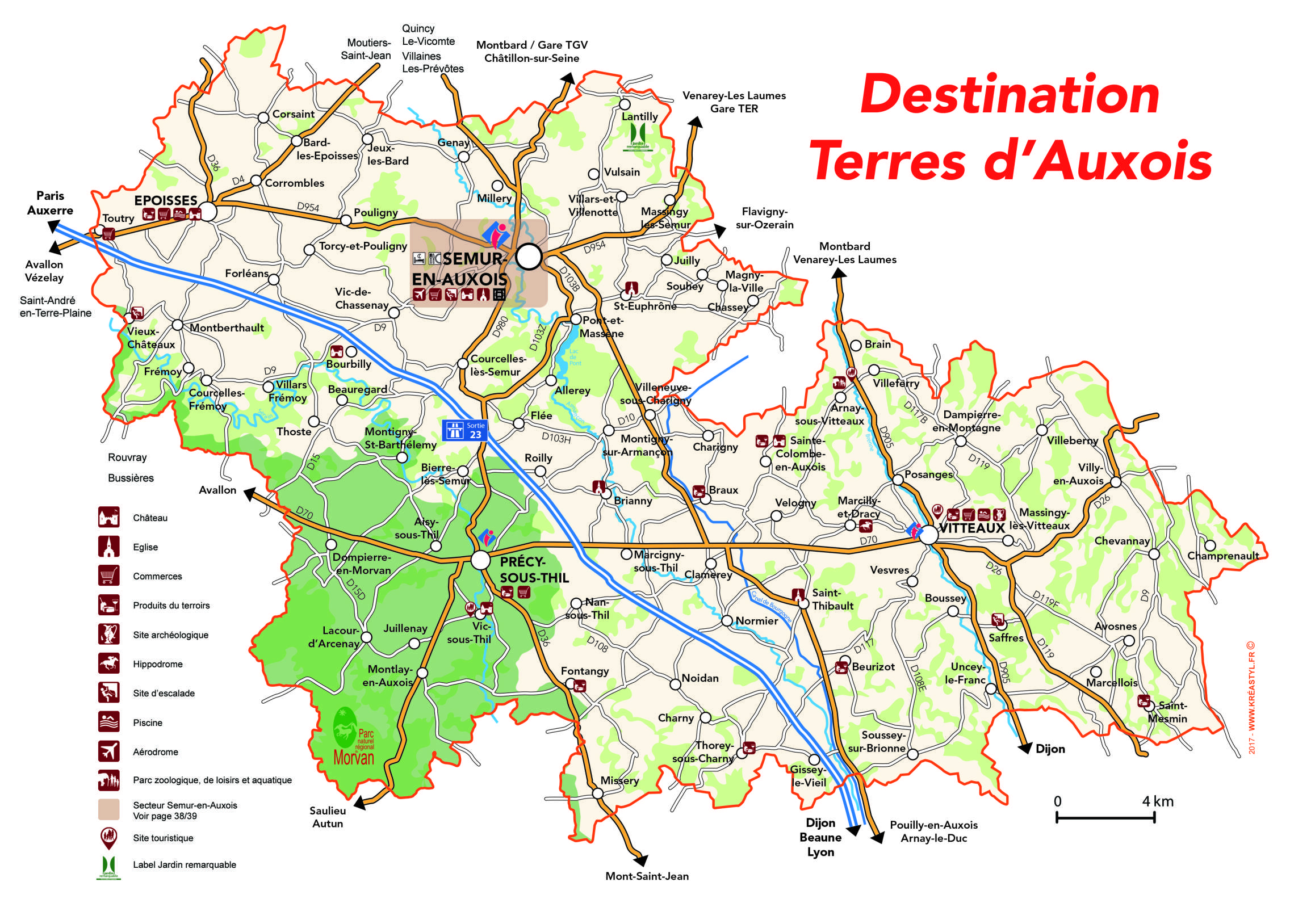 carte des terres d 39 auxois office de tourisme de semur en auxois. Black Bedroom Furniture Sets. Home Design Ideas